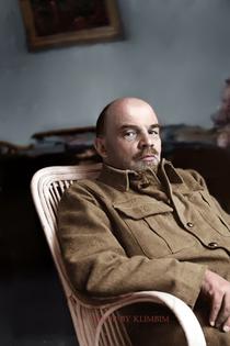Lenin colourised by Olga Shirnina