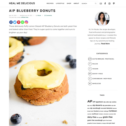 AIP Blueberry Donuts (paleo, yeast-free) • Heal Me Delicious