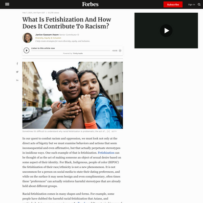 What Is Fetishization And How Does It Contribute To Racism?