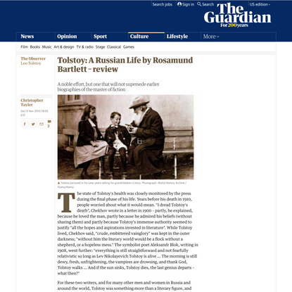 Tolstoy: A Russian Life by Rosamund Bartlett – review