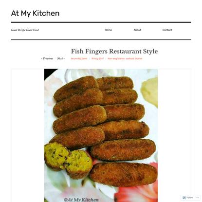 Fish Fingers Restaurant Style