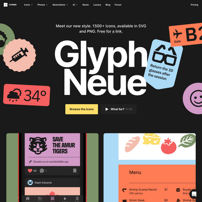 Glyph Neue by Icons8