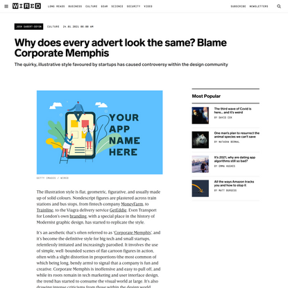 Why does every advert look the same? Blame Corporate Memphis