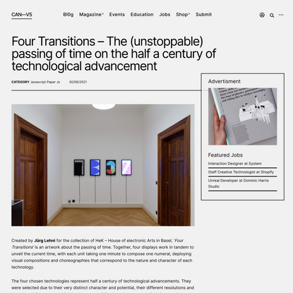 Four Transitions – The (unstoppable) passing of time on the half a century of technological advancement – CreativeApplicatio...