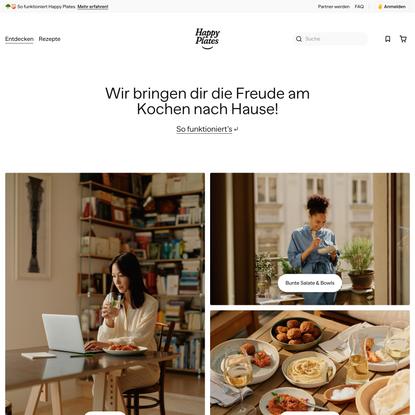 Happy Plates - Dein Online-Rezeptmarktplatz