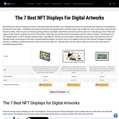 The 7 Best NFT Displays for Digital Artworks in 2021