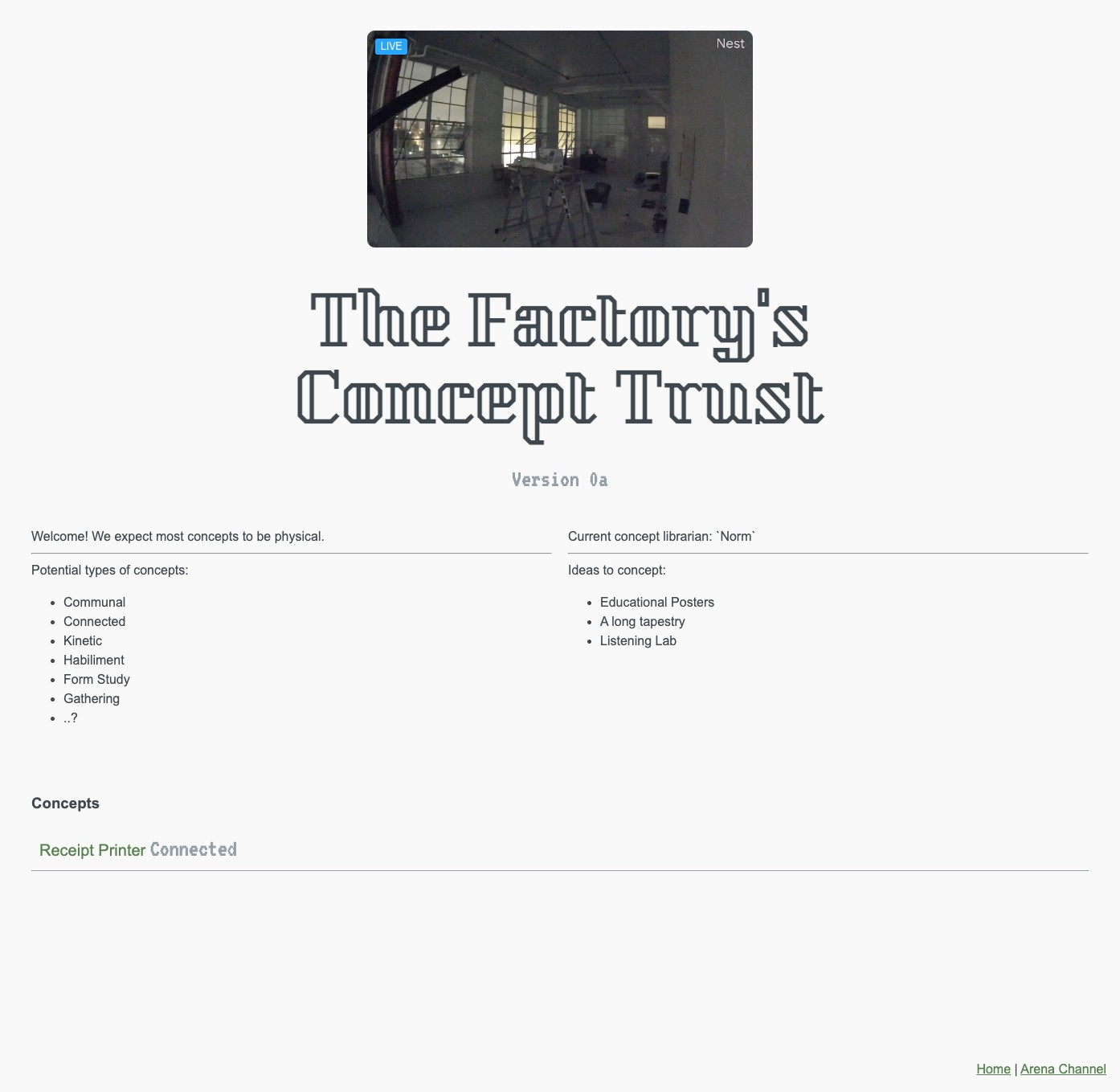 The Factory's trust version 0a
