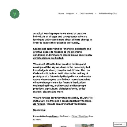 The Low Carbon Design Institute – #locdi