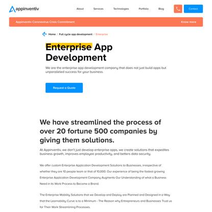 Enterprise App Development Company in NY, USA | Appinventiv