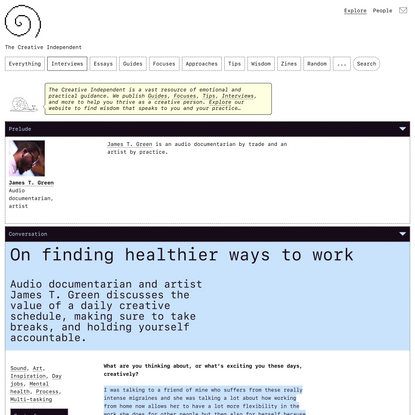 On finding healthier ways to work