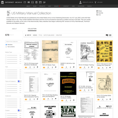 US Military Manual Collection : Free Texts : Free Download, Borrow and Streaming : Internet Archive