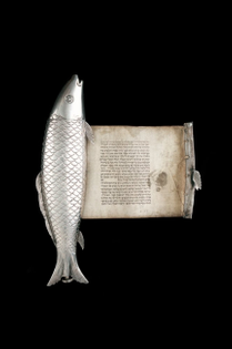 Esther scroll in fish-like case, Eastern Europe, 19th century, The Jewish Museum, London
