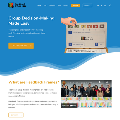 Feedback Frames - Group Decision-Making Made Easy