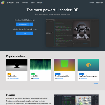 SHADERed - Free and open source shader editor