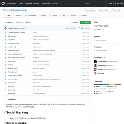 lmccart/SocialHacking