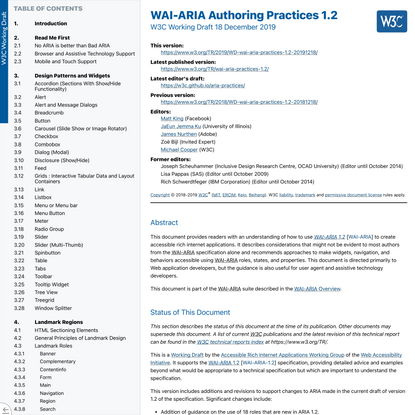 WAI-ARIA Authoring Practices 1.2