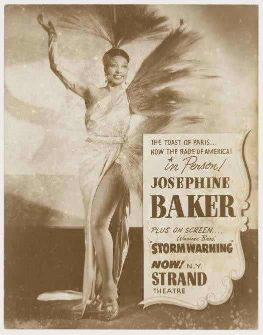 Poster of Josephine Baker advertising her performance at the Strand Theater, 1951.