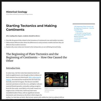 Starting Tectonics and Making Continents – Historical Geology