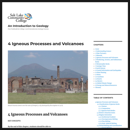 4 Igneous Processes and Volcanoes