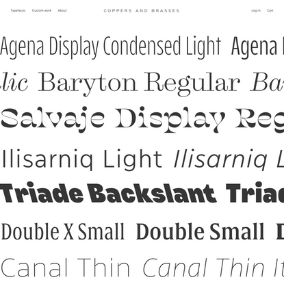 Coppers and Brasses | Type Foundry