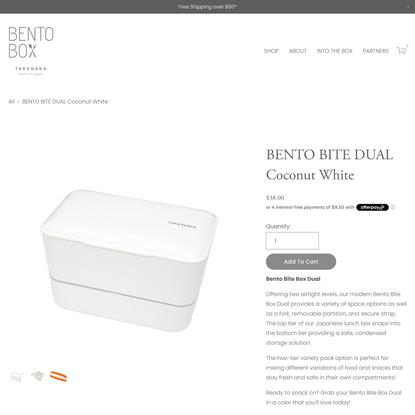 BENTO BITE DUAL Coconut White — TAKENAKA BENTO BOX