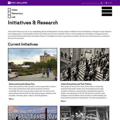 Initiatives & Research – Urban Democracy Lab