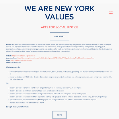 Arts for Social Justice — We Are New York Values