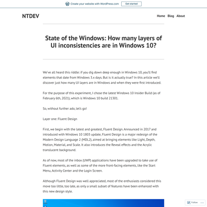 State of the Windows: How many layers of UI inconsistencies are in Windows 10?