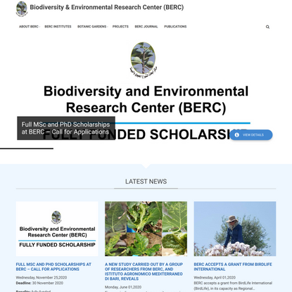 Home   Biodiversity & Environmental Research Center (BERC)