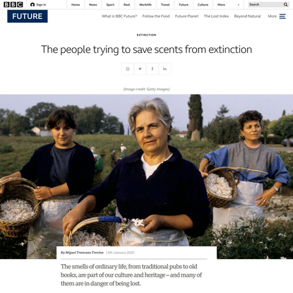 The people trying to save scents from extinction