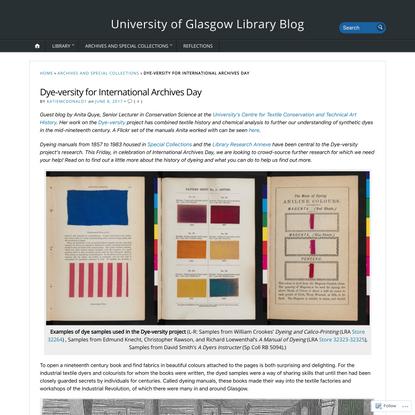 Dye-versity for International Archives Day
