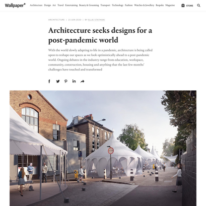 Architecture seeks designs for a post-pandemic world
