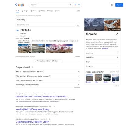 moraines - Google Search