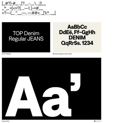 Denim - Displaay Type Foundry