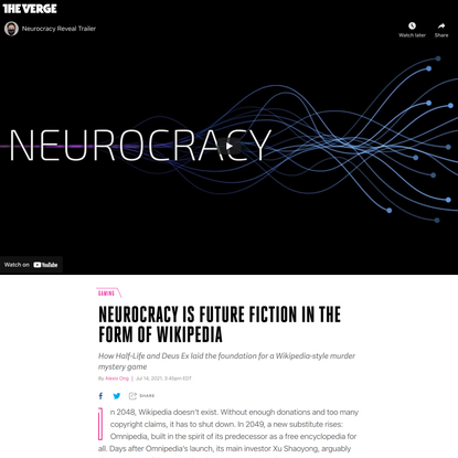 Neurocracy is future fiction in the form of Wikipedia