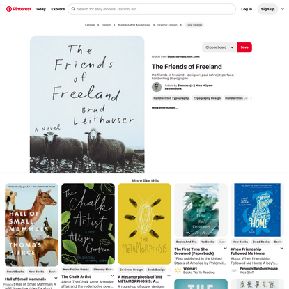 the friends of freeland - designer: paul sahre | typerface: handwriting | typography | Book design, Book cover design, Graph...