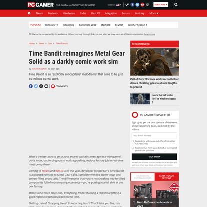 Time Bandit reimagines Metal Gear Solid as a darkly comic work sim