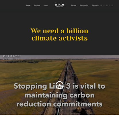 Climate Ad Project – We need a billion climate activists