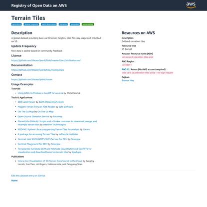Terrain Tiles - Registry of Open Data on AWS