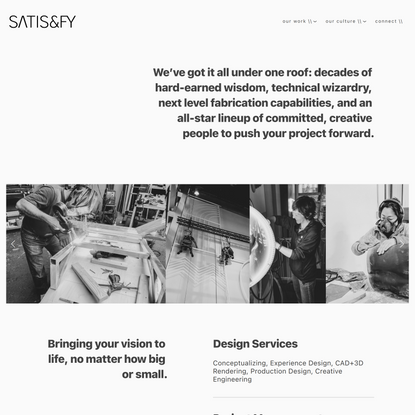 about us — satis&fy, USA