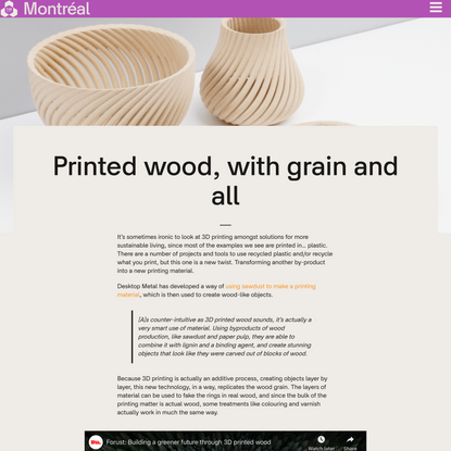 Printed wood, with grain and all - Fabcity montreal