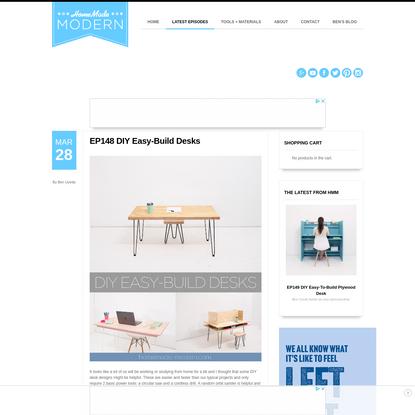 HomeMade Modern EP148 DIY Easy-Build Desks