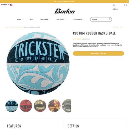 Custom Rubber Basketball