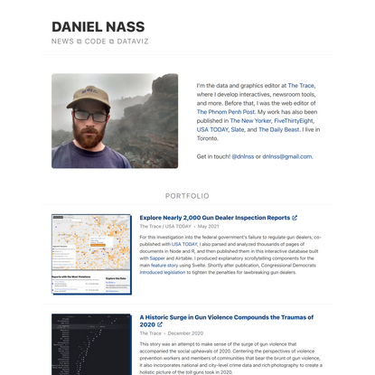 Daniel Nass ⧉ Portfolio