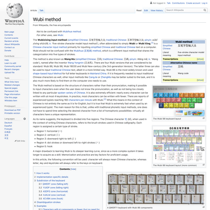 Wubi method - Wikipedia