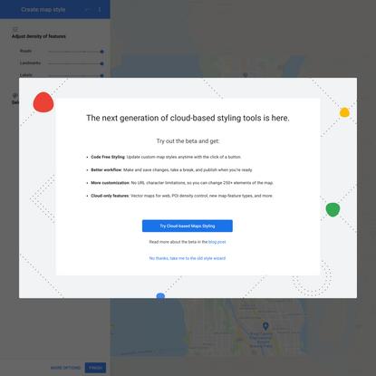Styling Wizard: Google Maps APIs