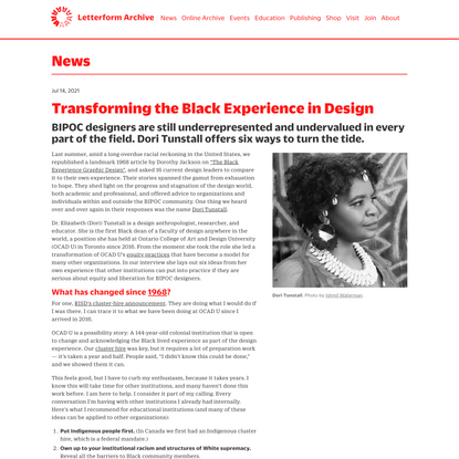 Transforming the Black Experience in Design