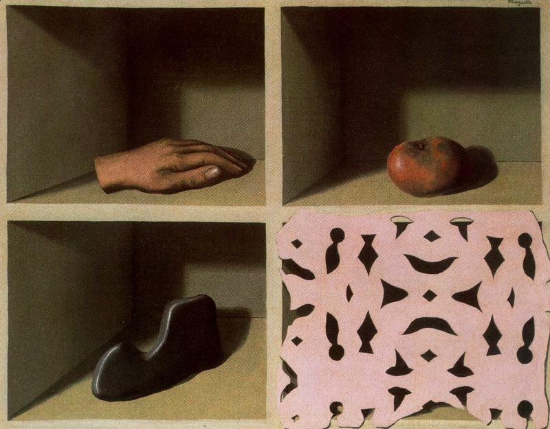 René Magritte • Le musee d'une nuit, 1927; Paris, France, Style: Surrealism Period: Surrealist Paris years Genre: symbolic painting Dimensions: 19 x 25 cm