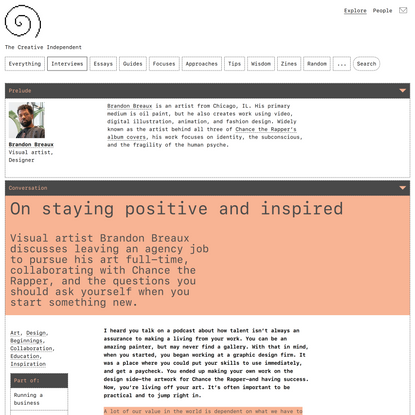 On staying positive and inspired