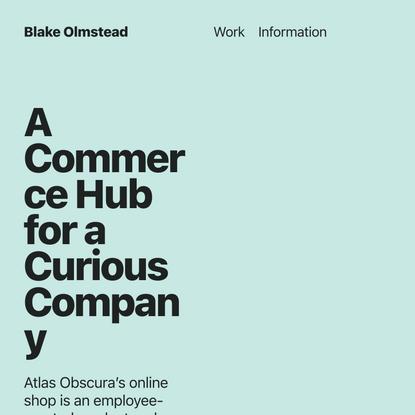 Curiosity Shop — Blake Olmstead